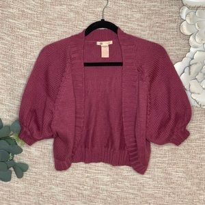 [tulle] Mulberry Cropped Knit Cardigan
